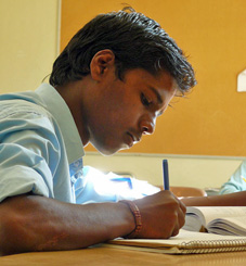 Vijay studying photo