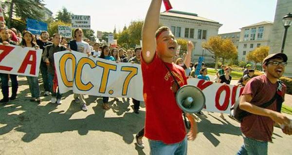 Studentprotest bilde