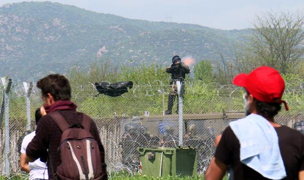 Rania på grensen til Makedonia