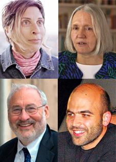 Bilde av Leilani Farah, Saskia Sassen, Joseph Stieglitz og Roberto Saviano