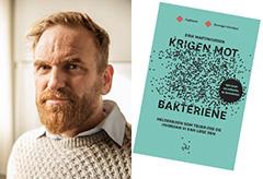 Bilde av Erik Martiniussen og bok
